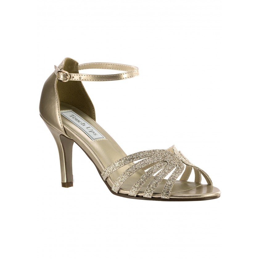 Champagne Rapture by Touch Ups Lovely Low Heel Glitter Shoe for $60.00