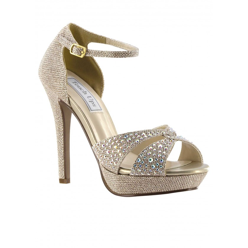 Silver Shelby by Touch Ups Platform Sandals for $69.00