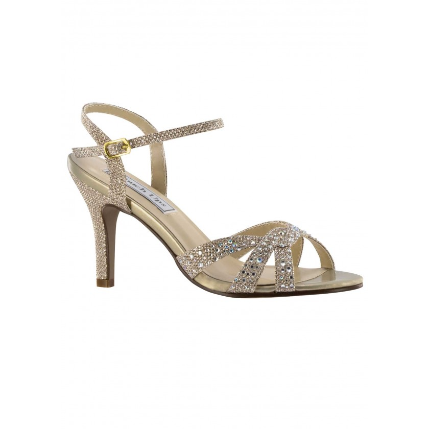 Champagne, Nude Dulce by Touch Ups Sparkling High Heel for $69.00