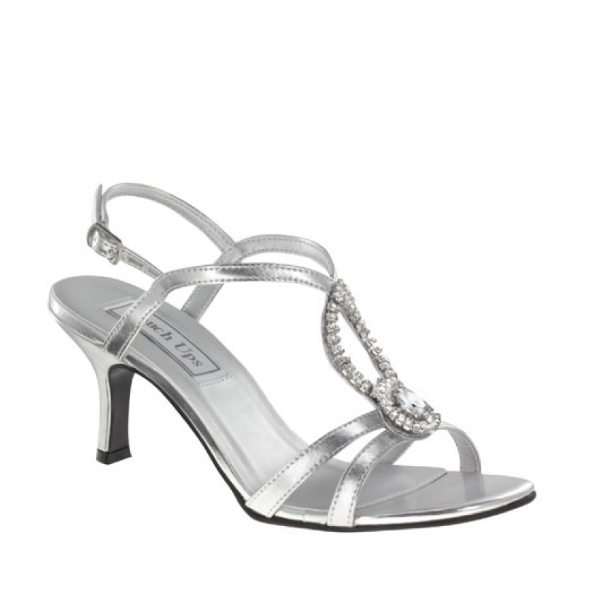 Black Mindy by Touch Ups Satin Jeweled Shoes for $68.00