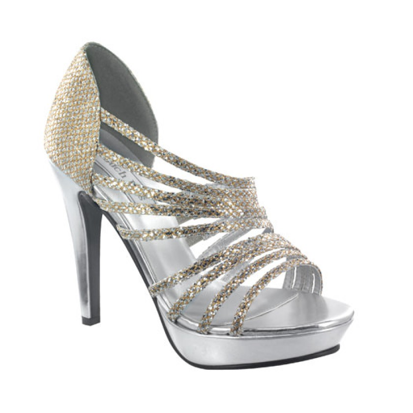 Gold, Silver Carey by Touch Ups Strappy Party Shoes for $64.00
