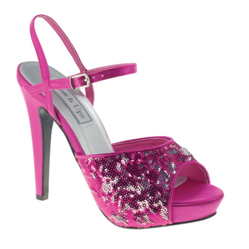 Purple Bev by Touch Ups Satin Prom Shoes for $66.00