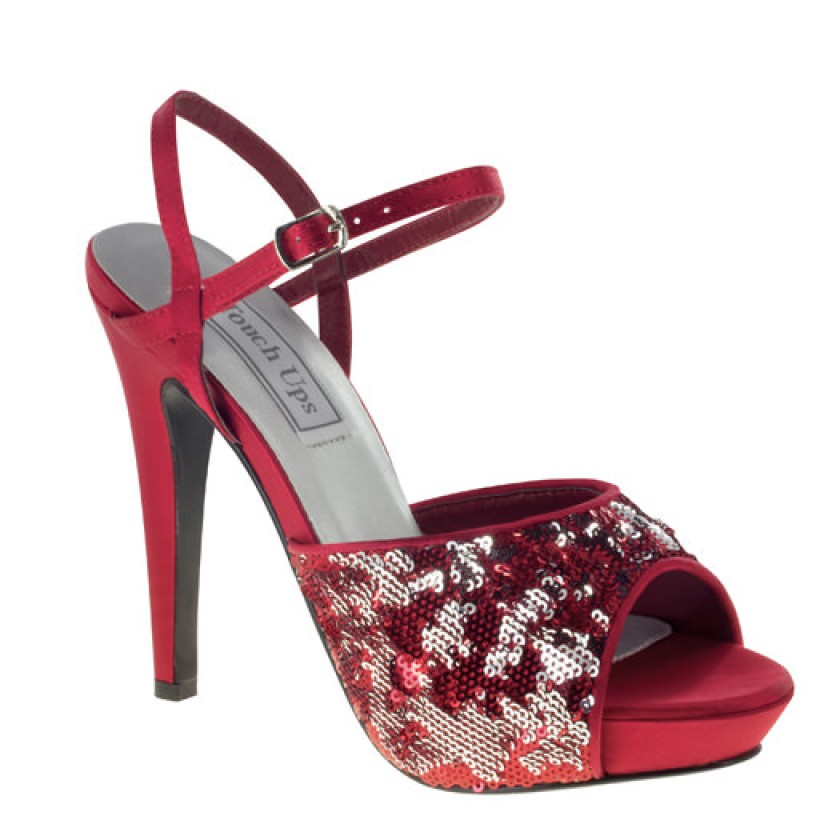 Red Bev by Touch Ups Peep Toe Shoes for $66.00