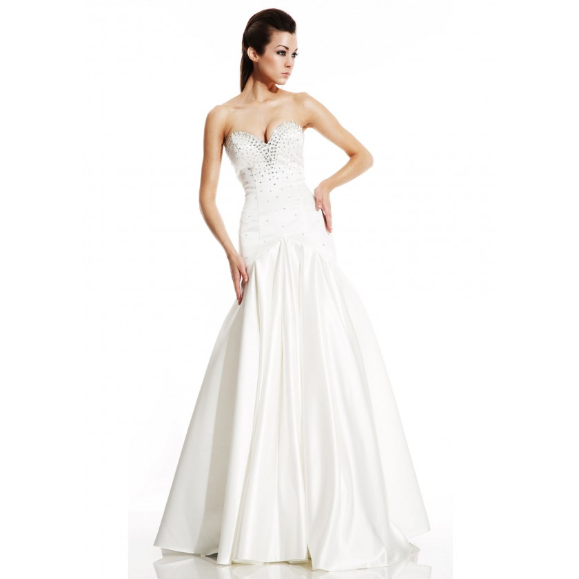 Ivory Johnathan Kayne by Joshua McKinley 486 Strapless Mermaid Gown for $540.00