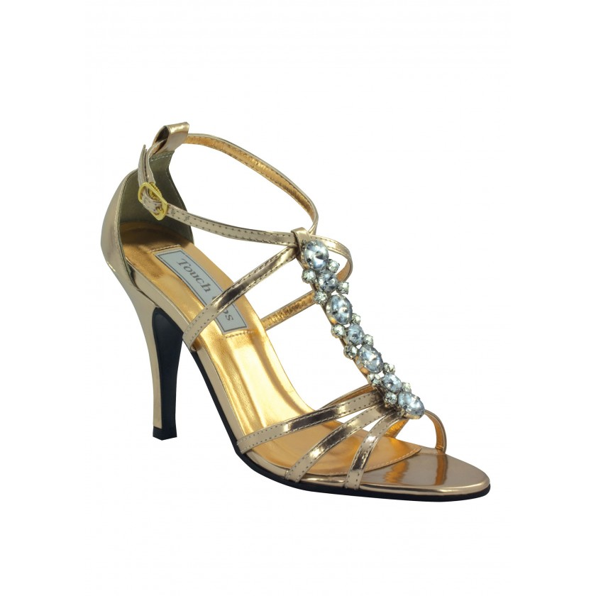Gold Vanessa by Touch Ups Stunning Jeweled Sandal for $66.00