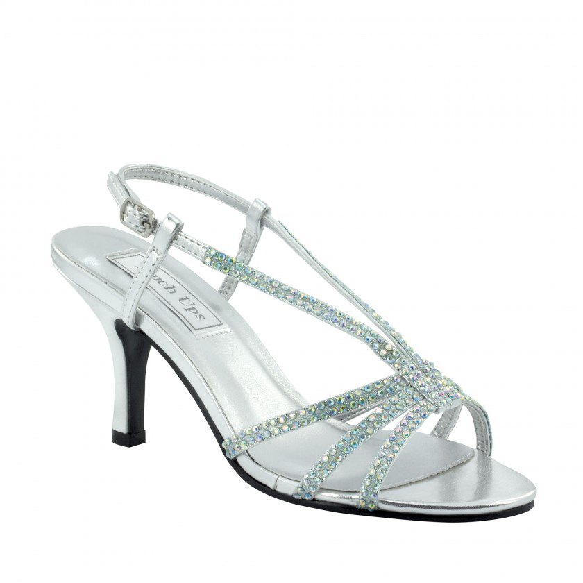 Silver Lyric by Touch Ups Strappy Prom Shoe for $56.00