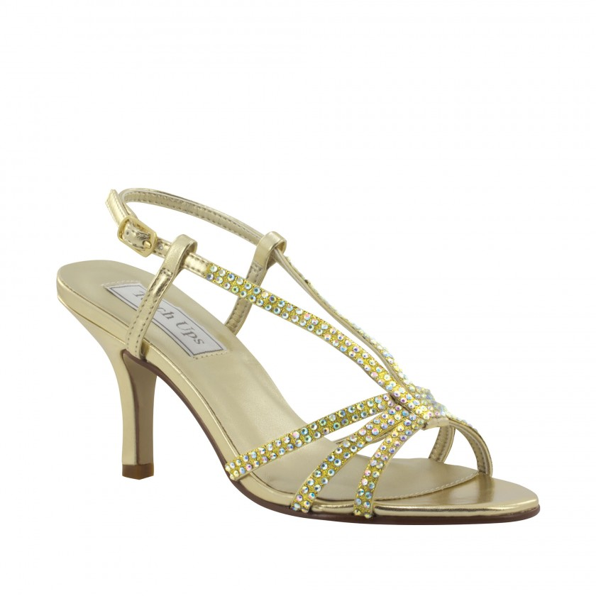 Gold Lyric by Touch Ups Glitter Prom Shoe for $56.00