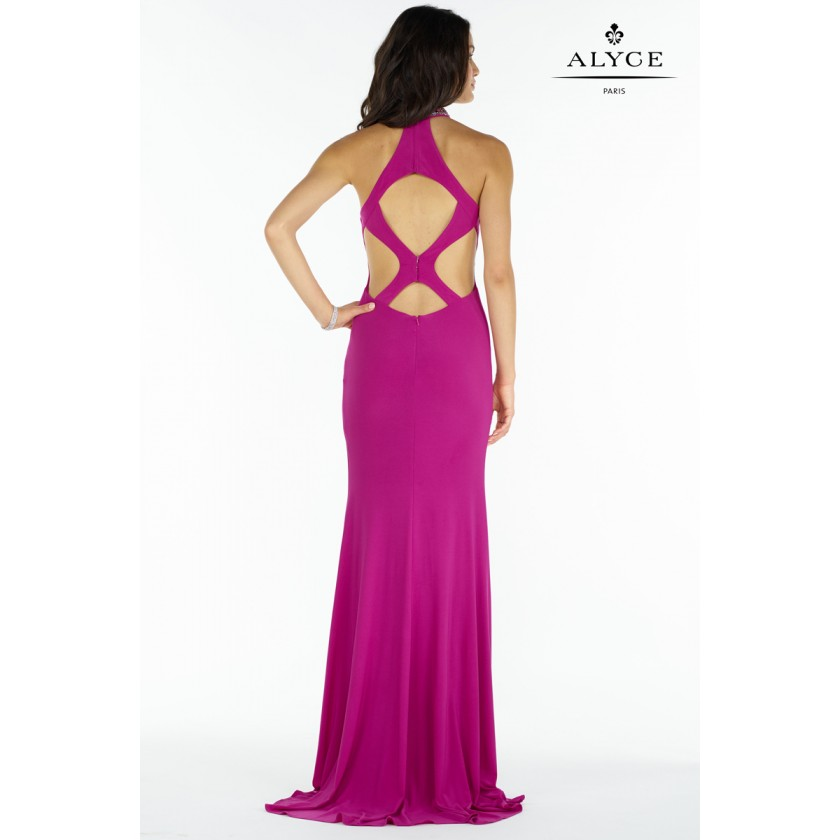 Pink Alyce 8008 High Neck Jersey Gown for $330.00