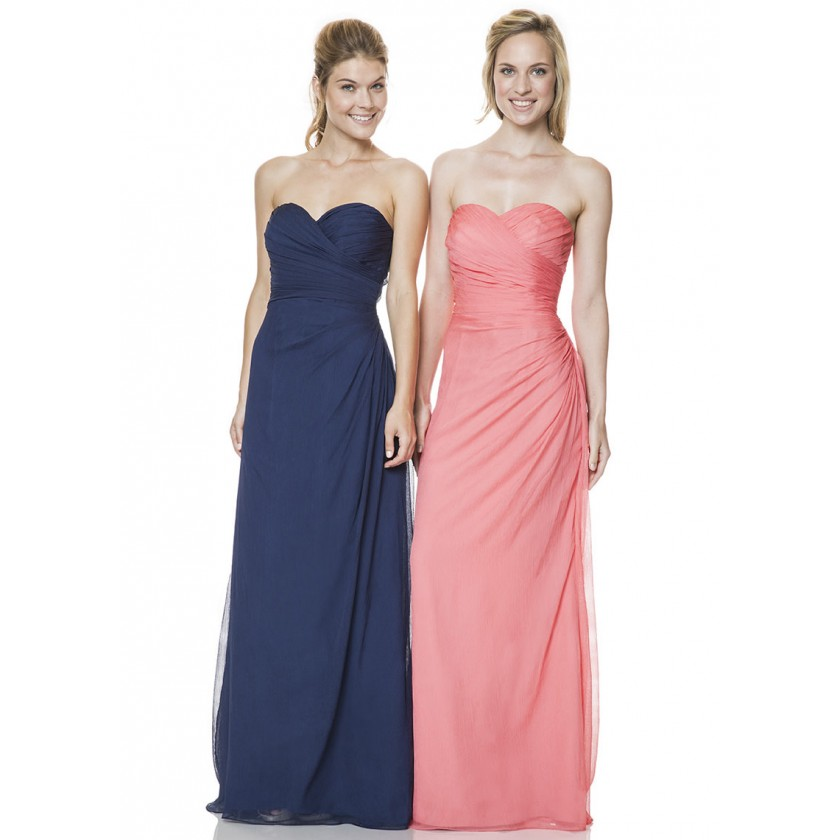 Blue, Pink Bari Jay 1530 Ruched Evening Gown for $218.00