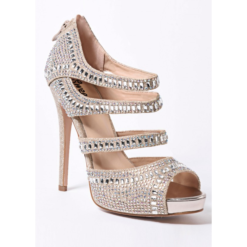Silver Sweetie's Jewel Strappy Pump for $118.00