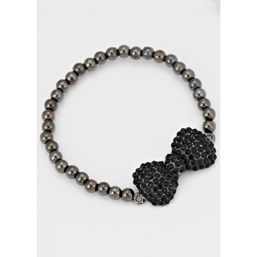 Crystal Bow Stretch Bracelet for $16.00