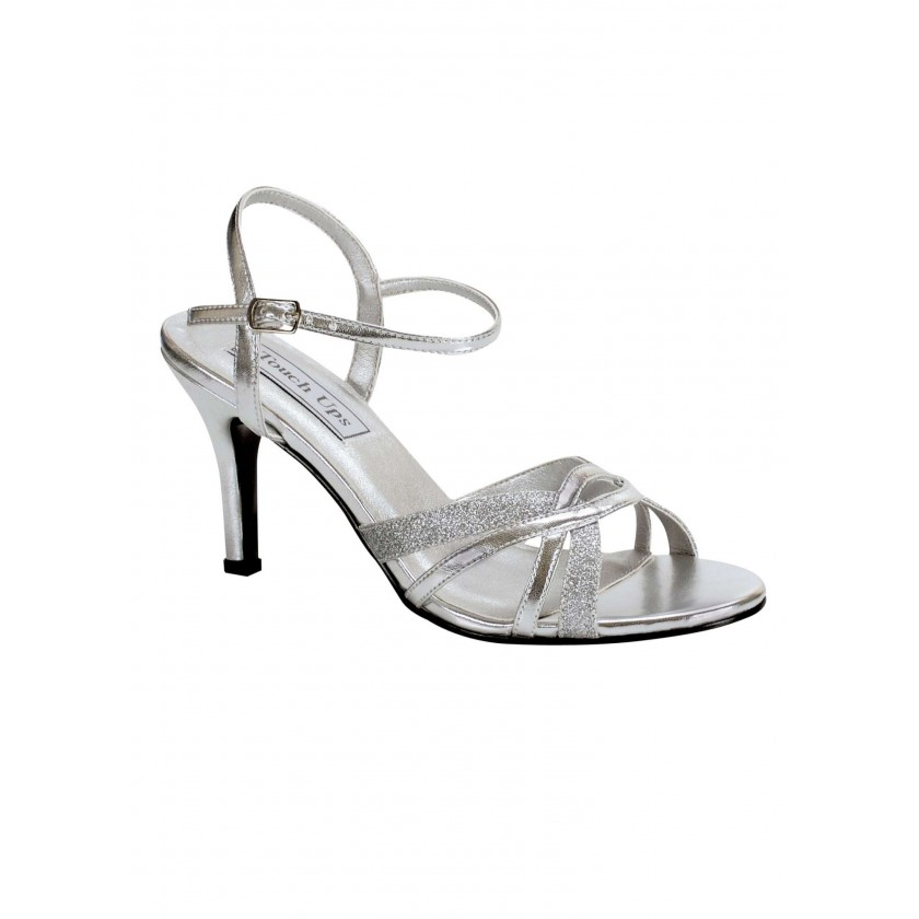 Black Taryn by Touch Ups Strappy Prom Shoes for $48.00