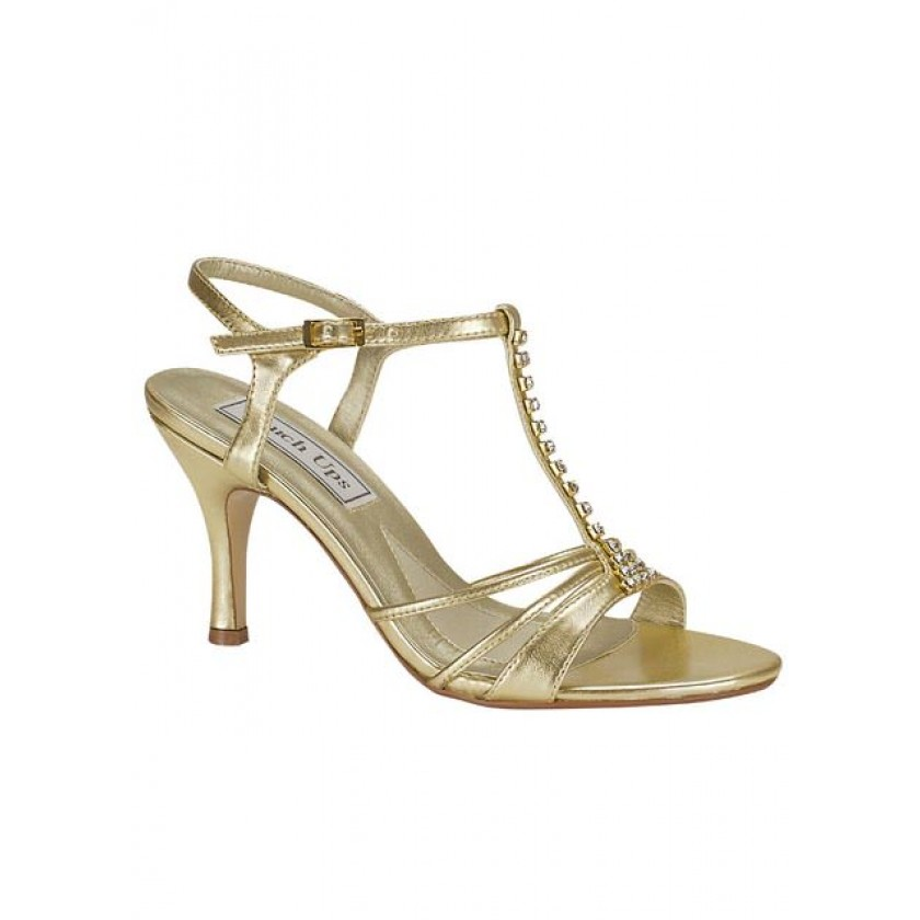 Gold Anneka by Touch Ups Strappy Sandal for $60.00