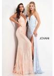 Jovani 1012 Floral Appliques Backless Prom Dress