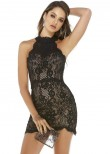 Alyce 4254 Short Lace Halter Dress