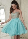Damas 52386 Strapless Sweetheart Party Dress with Corset