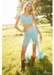 Sherri Hill 52472 Lace Two Piece Ruffle High Low Dress