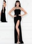 Lucci Lu 8097 Black Evening Gown