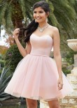 Mori Lee 9516 Blush Pink Strapless Party Dress