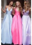 JVN by Jovani JVN66673 Satin A-Line Prom Dress