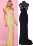 Sherri Hill 53550 Black Multi Size 4