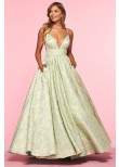 Alisha Hill 80010 Metallic Printed Ball Gown