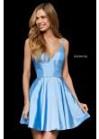 Sherri Hill 52378 V-Neck Party Dress with Pockets
